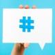 Hashtag simbolo per indicizzare